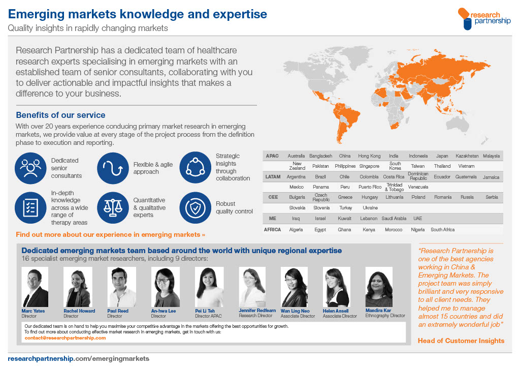 Emerging markets Our experience and expertise