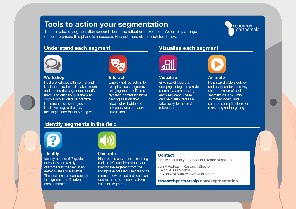 Tools to action your segmentation